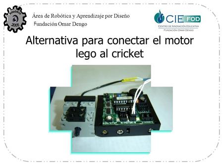 Alternativa para conectar el motor lego al cricket