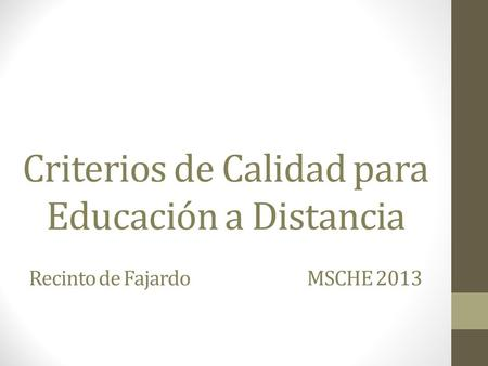 Enlace al documento de MSCHE