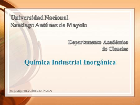 Química Industrial Inorgánica