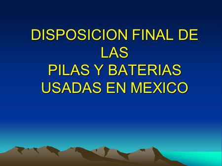 Disposicion final de pilas y baterias