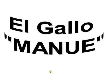 El Gallo MANUE.