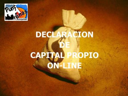 DECLARACION DE CAPITAL PROPIO ON-LINE.