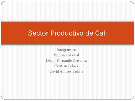 Sector Productivo de Cali