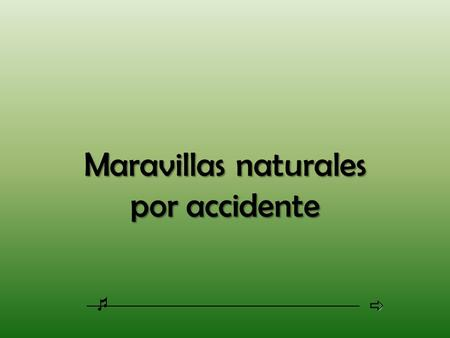 Maravillas naturales por accidente.
