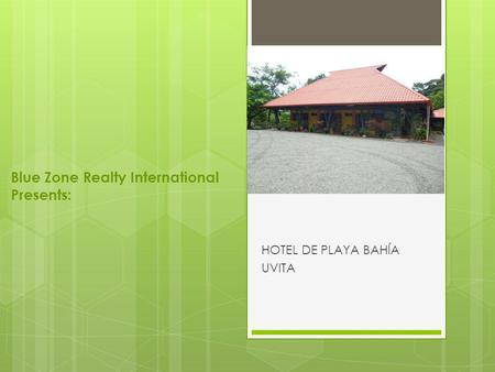 Blue Zone Realty International Presents: HOTEL DE PLAYA BAHÍA UVITA.