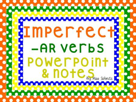 What is the Imperfect? The imperfect is a form of the past tense that is used when an action: – Used to happen – Happened repeatedly or habitually – Happened.