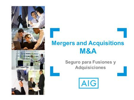Mergers and Acquisitions Seguro para Fusiones y Adquisiciones