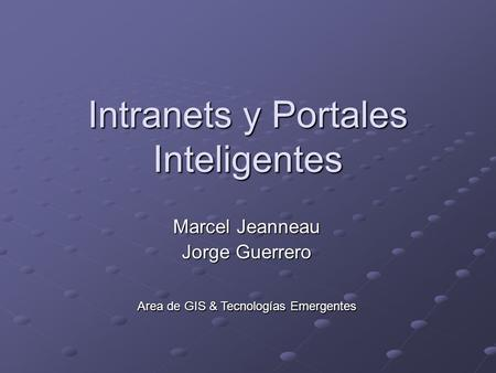 Intranets y Portales Inteligentes