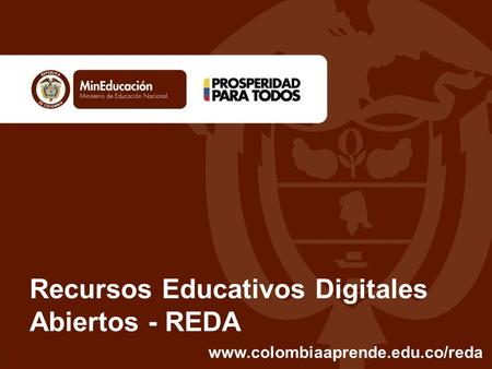 Recursos Educativos Digitales Abiertos - REDA