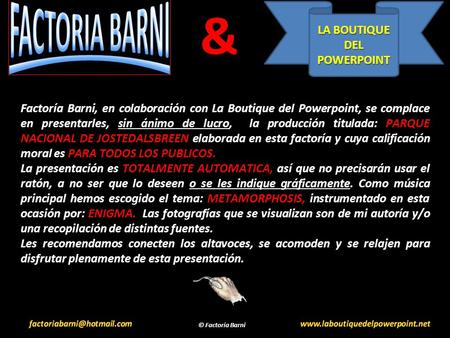 & LA BOUTIQUE DEL POWERPOINT