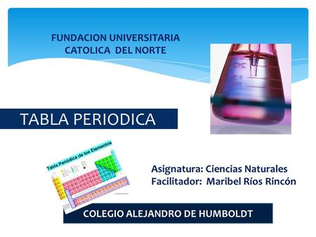 TABLA PERIODICA FUNDACION UNIVERSITARIA CATOLICA DEL NORTE