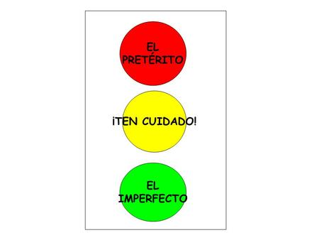 EL PRETÉRITO ¡TEN CUIDADO! EL IMPERFECTO. USES OF THE PRETERITE - STOP Completed actions in the past Specific periods of time Interrupting actions Actions.