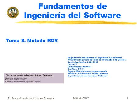 Fundamentos de Ingeniería del Software