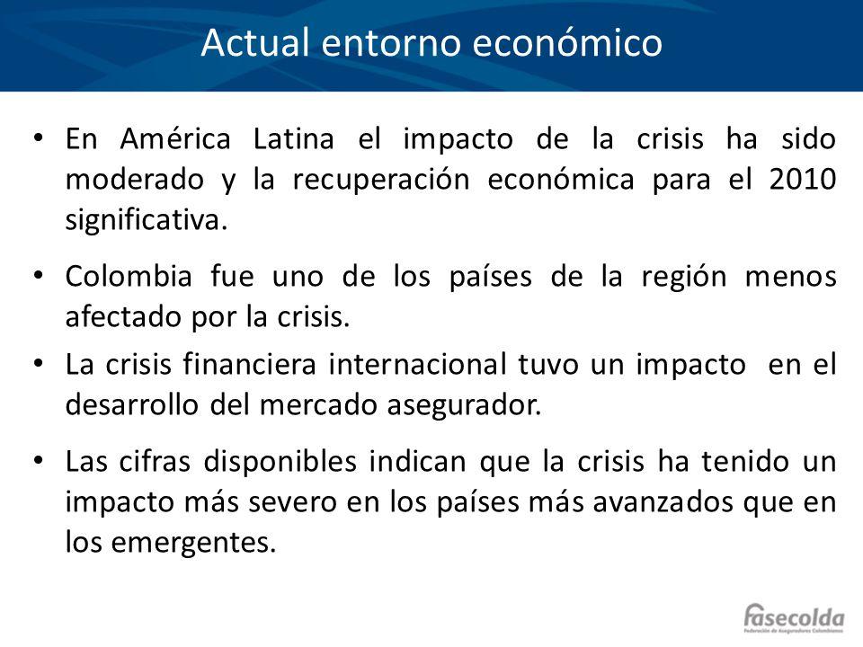 De acuerdo con organismos internacionales, Colombia fue de los países menos afectados por la crisis de 2009 Fuente: FMI, WEO ( Update Abril 2010) * Proyección