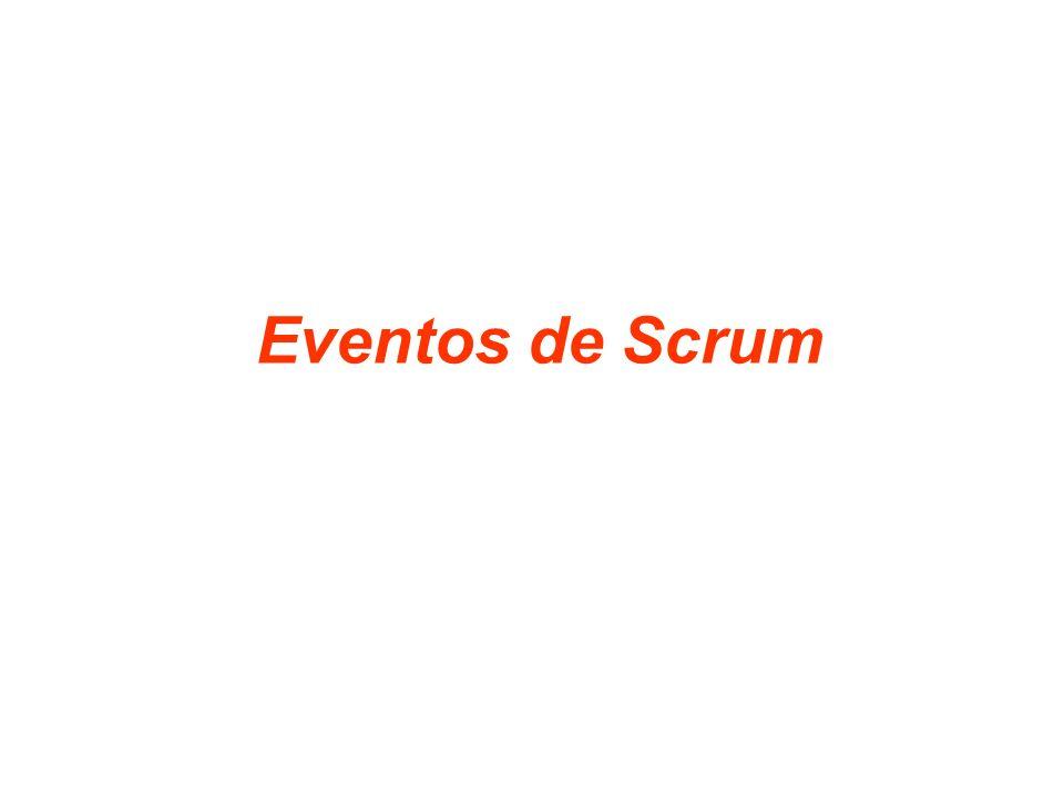 19 En Scrum existen eventos prescritos, con el fin de crear regularidad y minimizar la necesidad de reuniones no definidas en Scrum.