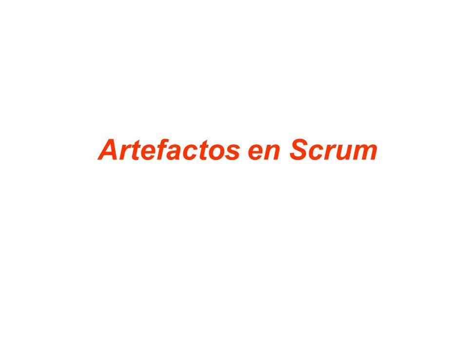 29 Los artefactos de SCRUM son los siguientes: – Product Backlog.