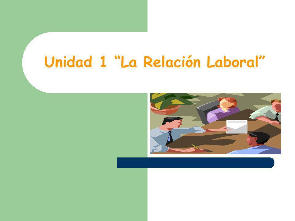 Unidad 1 La Relación Laboral