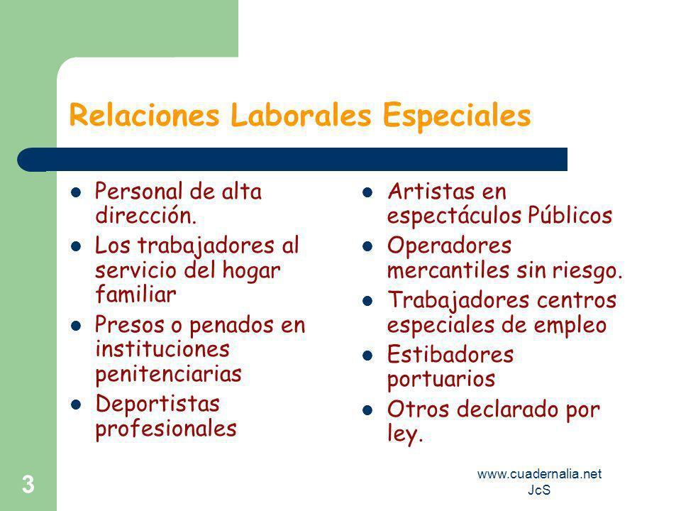 www.cuadernalia.net JcS 3 Relaciones Laborales Especiales Personal de alta dirección.