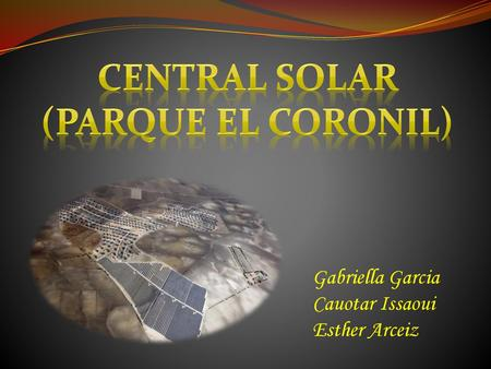 Central solar (parque El Coronil)
