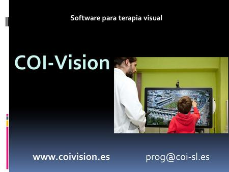 COI-Vision Software para terapia visual