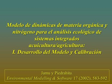 Environmental Modelling & Software 17 (2002),