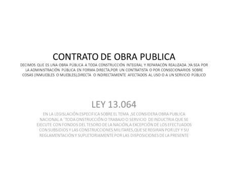 Contrataciones de obra p blica en ingenier a ppt descargar for Que es una oficina publica