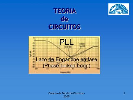 Lazo de Enganche en fase (Phase locked Loop)