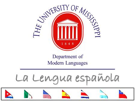 Department of Modern Languages. Vocabulario nuevo.