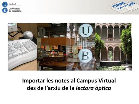 Importar les notes al Campus Virtual