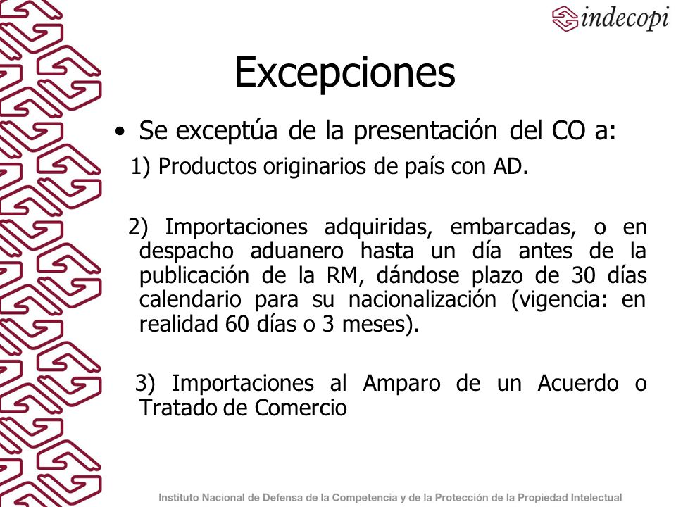 Problemas Comunes Presentan en Formato distinto al aprobado Si presentan en formato, muchas veces esta incompleto (número de CO) No se presenta traducción oficial al español Falsificación Verificación de autenticidad es un proceso largo