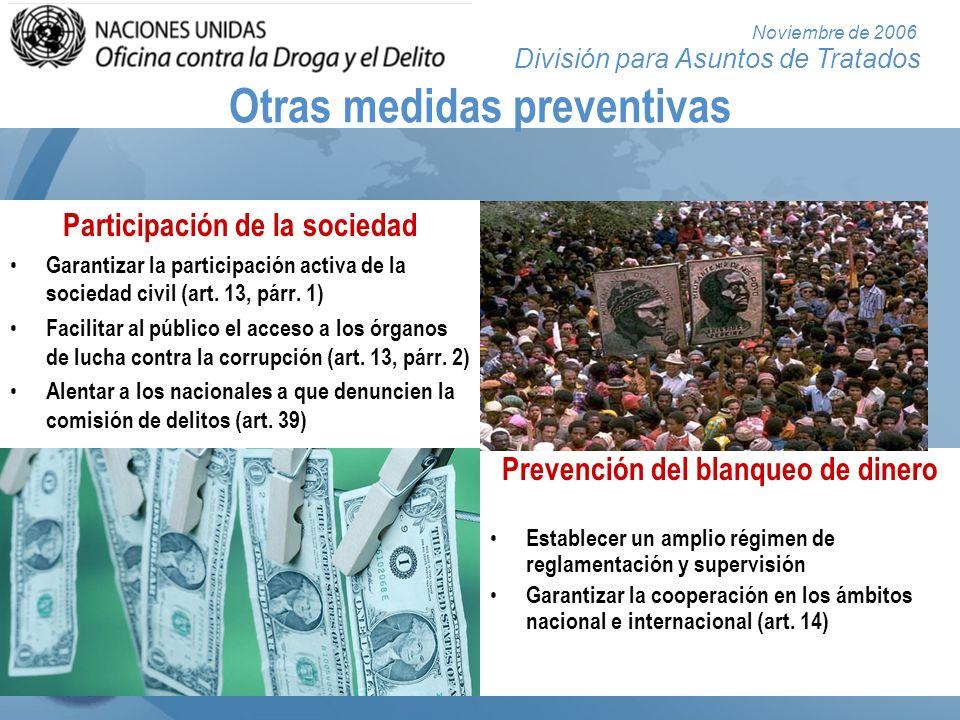 División para Asuntos de Tratados Noviembre de 2006 PENALIZACIÓN Arts. 15 a 25
