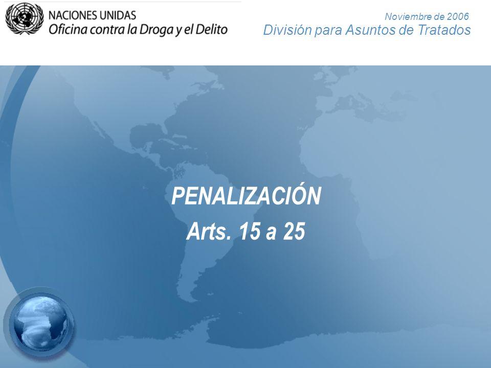 División para Asuntos de Tratados Noviembre de 2006 Seis actos que pueden tipificarse como delitos Soborno pasivo de un funcionario público extranjero (art.