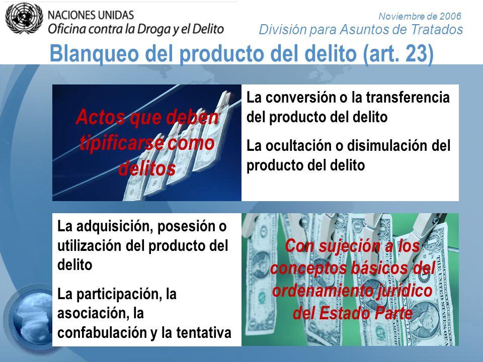 División para Asuntos de Tratados Noviembre de 2006 Obstrucción de la justicia (art.