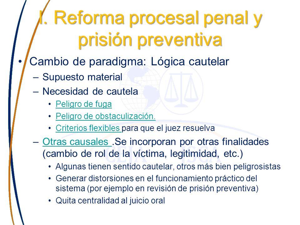 Ejemplos de estas causales en Códigos reformados: El Salvador (Código Procesal Penal de 1996, art.