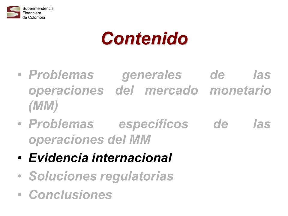 Características internacionales operaciones MM Son un mecanismo para dar profundidad y liquidez al mercado de valores en el corto plazo.