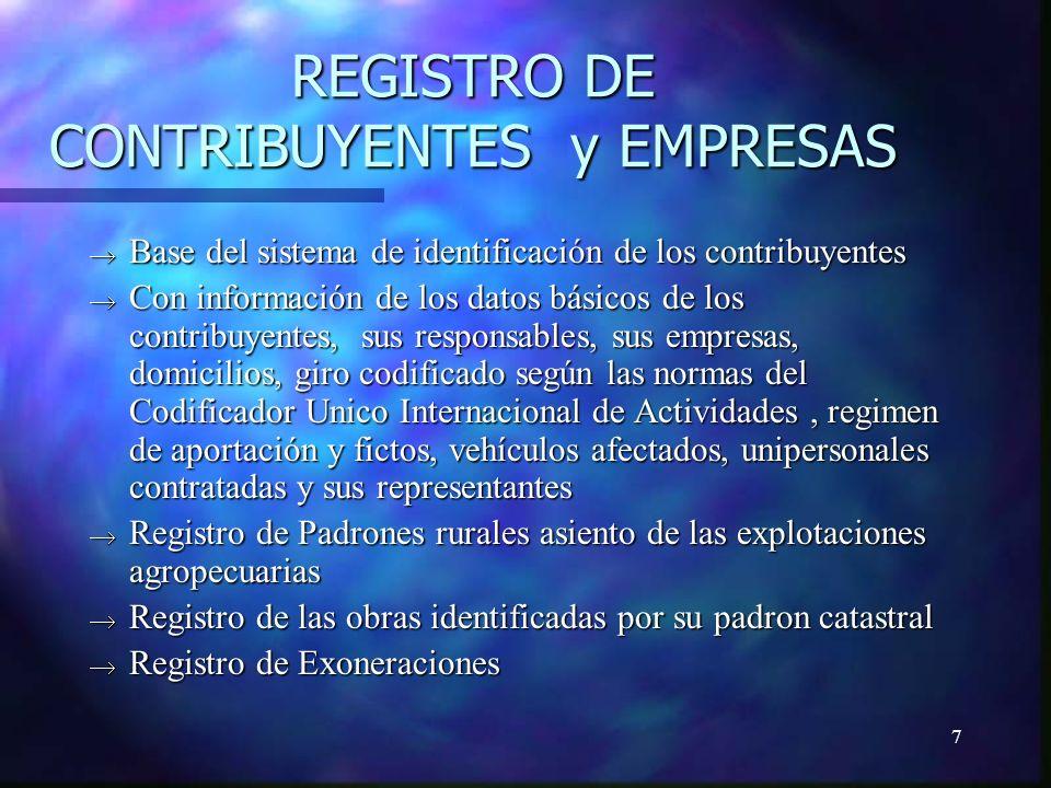8 SISTEMA DE REGISTRO DE CONTRIBUYENTES