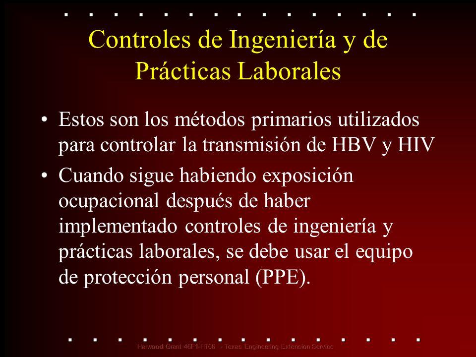 Estos controles reducen la exposición de los empleados, ya sea eliminando el riesgo o aislando al trabajador.
