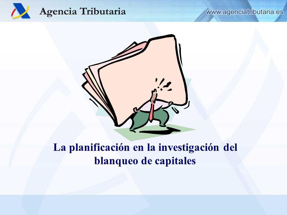 La planificación de la investigación Objetivo de la AEAT (dentro de la política general de planificación de la actividad de control tributario) es la sistematización de la investigación.