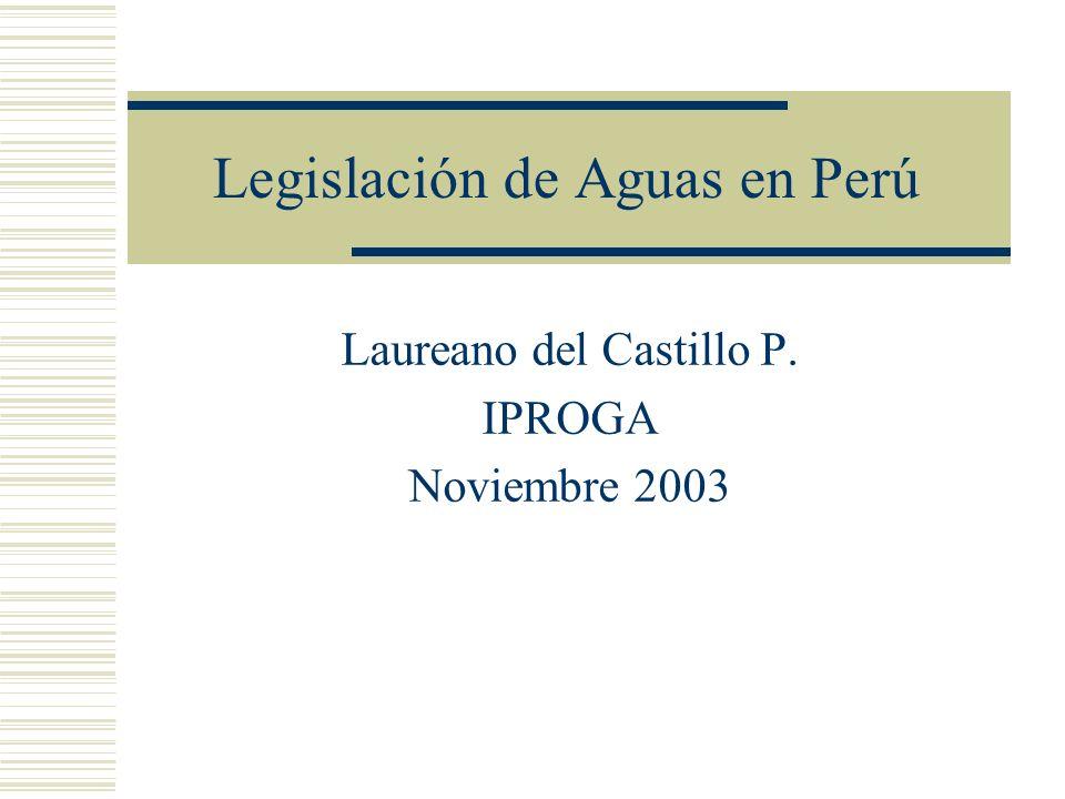 INTRODUCCIÓN Uso actual del agua Evolución legal Situación actual de la legislación