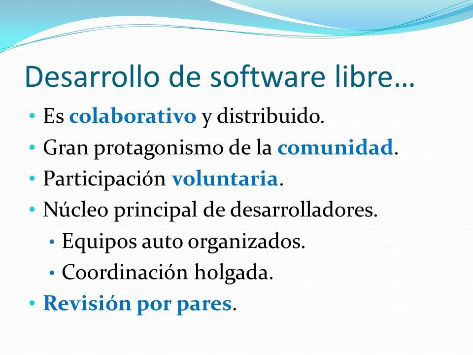 Desarrollo de software libre…