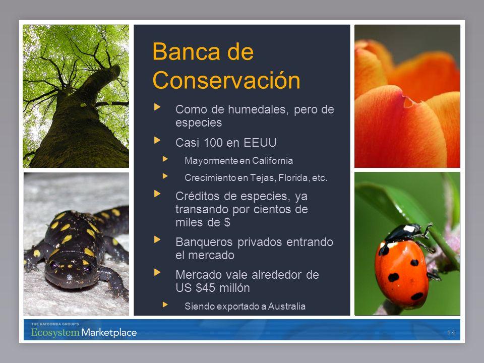 Banca de Conservación Como de humedales, pero de especies
