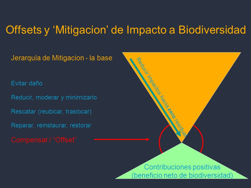 Offsets y 'Mitigacion' de Impacto a Biodiversidad