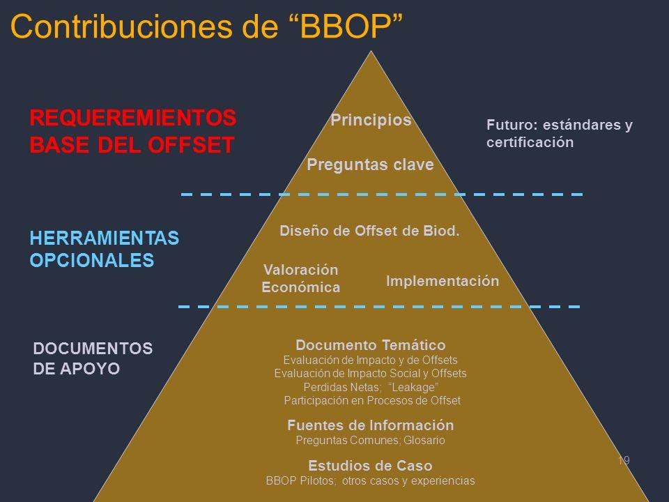 Diseño de Offset de Biod. Fuentes de Información