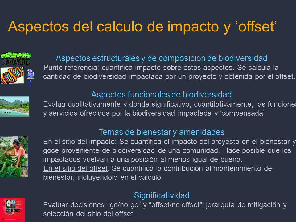Aspectos del calculo de impacto y 'offset'