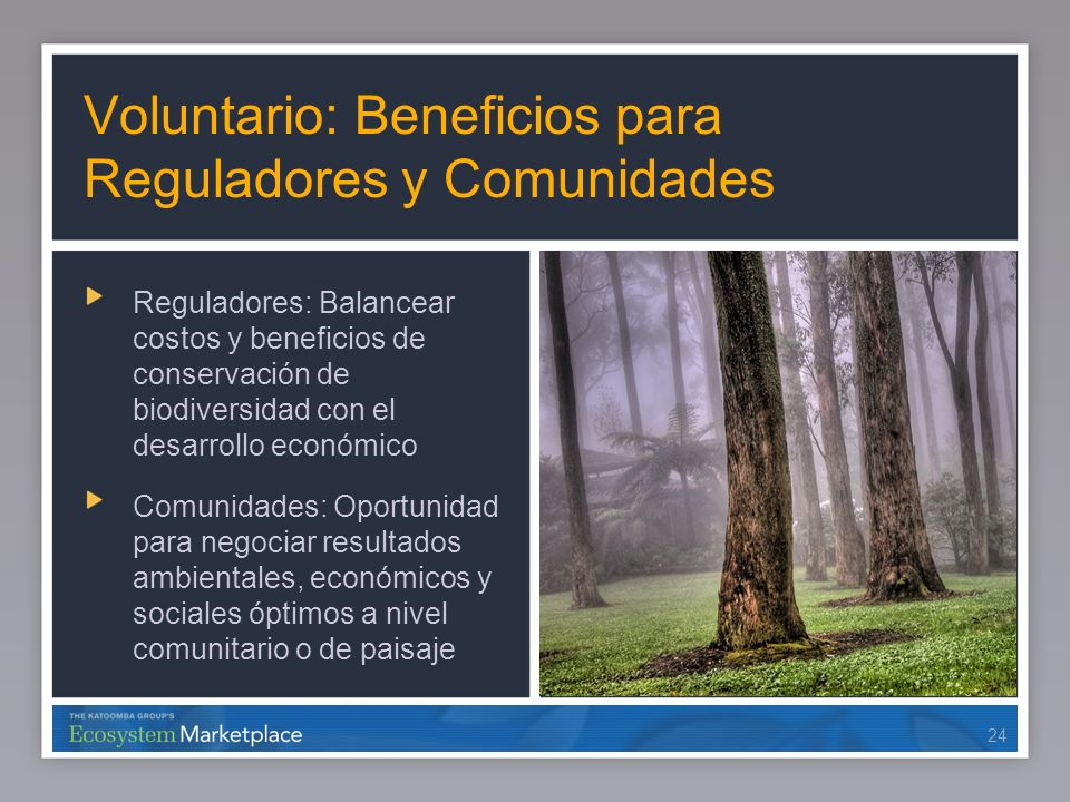 Voluntario: Beneficios para Reguladores y Comunidades