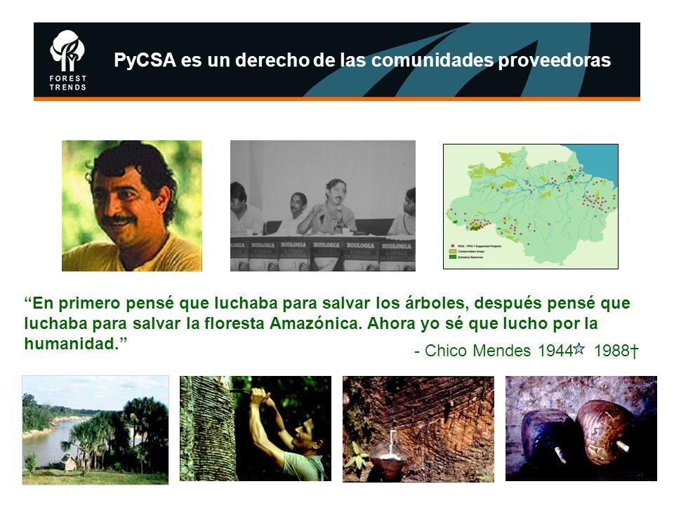 PyCSA es un derecho de las comunidades proveedoras