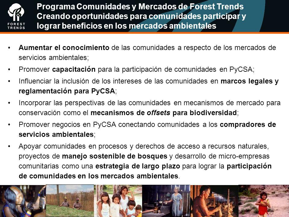 Programa Comunidades y Mercados de Forest Trends