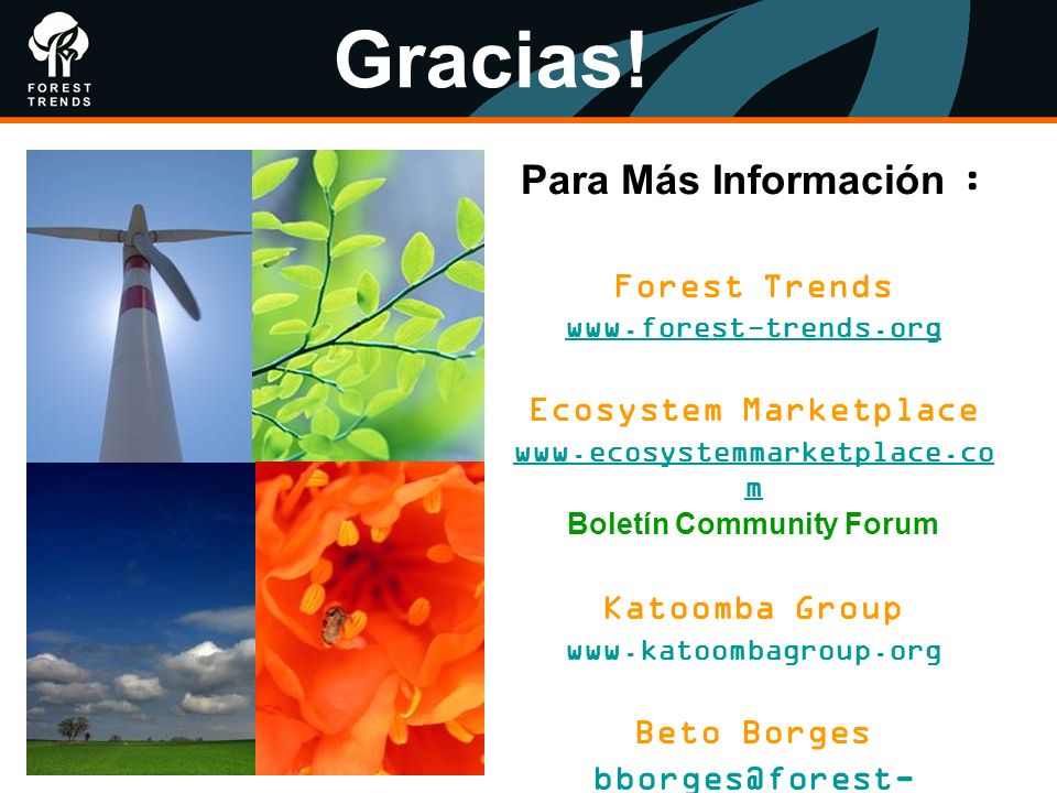 Ecosystem Marketplace Boletín Community Forum