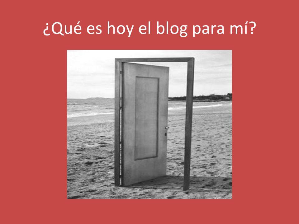 ¿Qué es hoy el blog para mí