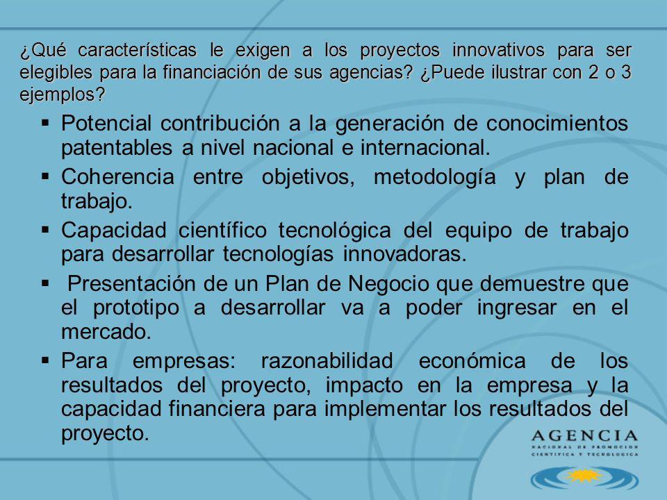 Coherencia entre objetivos, metodología y plan de trabajo.